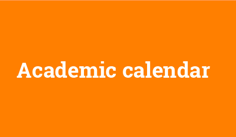 Academic calendar for academic year 2016/2017